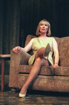 THE HOMECOMING by Harold Pinter design: William Dudley lighting: Hugh Vanstone director: Roger Michell <br> Lindsay Duncan (Ruth) Lyttelton Theatre, National Theatre (NT), London SE1 23/01/1997 (c) Do...