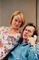 THE REAL THING by Tom Stoppard design: Vicki Mortimer lighting: Mark Henderson director: David Leveaux <br> Jennifer Ehle (Annie), Stephen Dillane (Henry) Donmar Warehouse, London WC2 02/06/1999 (c) D...