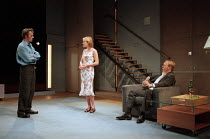 THE REAL THING by Tom Stoppard design: Vicki Mortimer lighting: Mark Henderson director: David Leveaux <br> l-r: Stephen Dillane (Henry), Jennifer Ehle (Annie), Joshua Henderson (Brodie) Donmar Wareho...