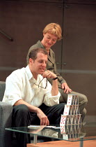 THE REAL THING by Tom Stoppard design: Vicki Mortimer lighting: Mark Henderson director: David Leveaux <br> Nigel Lindsay (Max), Sarah Woodward (Charlotte) Donmar Warehouse, London WC2 02/06/1999 (c)...
