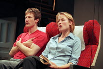 THE REAL THING by Tom Stoppard design: Vicki Mortimer lighting: Mark Henderson director: David Leveaux <br> Mark Bazeley (Billy), Jennifer Ehle (Annie) Donmar Warehouse, London WC2 02/06/1999 (c) Dona...