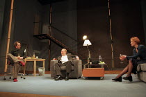 THE REAL THING by Tom Stoppard design: Vicki Mortimer lighting: Mark Henderson director: David Leveaux <br> l-r: Stephen Dillane (Henry), Joshua Henderson (Brodie), Jennifer Ehle (Annie), a Donmar War...