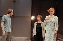 THE REAL THING by Tom Stoppard design: Vicki Mortimer lighting: Mark Henderson director: David Leveaux <br> l-r: Stephen Dillane (Henry), Sarah Woodward (Charlotte), Jennifer Ehle (Annie), a Donmar Wa...