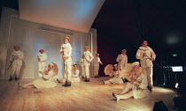 OH! WHAT A LOVELY WAR composed by Joan Littlewood and the Theatre Workshop E15 design: Tom Piper lighting: Ian Scott director: Fiona Laird <br> front right: Joanna Riding, Karl Morgan and the company...