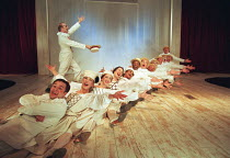 OH! WHAT A LOVELY WAR composed by Joan Littlewood and the Theatre Workshop E15 design: Tom Piper lighting: Ian Scott director: Fiona Laird <br> from front left: Karl Morgan, Joanna Riding, Elizabeth R...