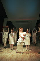 OH! WHAT A LOVELY WAR composed by Joan Littlewood and the Theatre Workshop E15 design: Tom Piper lighting: Ian Scott director: Fiona Laird <br> centre, l-r: Jackie Morrison, Joanna Riding, Elizabeth R...
