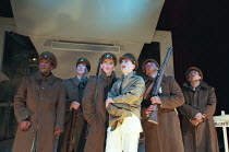 OH! WHAT A LOVELY WAR composed by Joan Littlewood and the Theatre Workshop E15 design: Tom Piper lighting: Ian Scott director: Fiona Laird <br> left: David Grant centre, l-r: Dean Lennox-Kelly, Nichol...