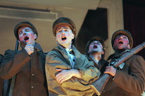 OH! WHAT A LOVELY WAR composed by Joan Littlewood and the Theatre Workshop E15 design: Tom Piper lighting: Ian Scott director: Fiona Laird <br> front left: Dean Lennox-Kelly centre: Nicholas Tigg Nati...
