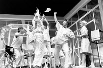 ONE FLEW OVER THE CUCKOO'S NEST by Dale Wasserman after the novel by Ken Kesey design: Gavin Davies lighting: Chic Reid director: Robin Midgley <br> front centre: Douglas W. Iles (Scanlon), John Vine...