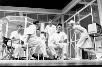 ONE FLEW OVER THE CUCKOO'S NEST by Dale Wasserman after the novel by Ken Kesey design: Gavin Davies lighting: Chic Reid director: Robin Midgley <br> l-r: Gary Lilburn (Martini), Douglas W. Iles (Scan...