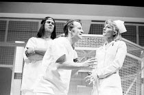 ONE FLEW OVER THE CUCKOO'S NEST by Dale Wasserman after the novel by Ken Kesey design: Gavin Davies lighting: Chic Reid director: Robin Midgley <br> l-r: John Labanowski (Chief Bromden), John Vine (Ra...