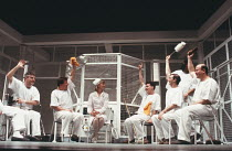 ONE FLEW OVER THE CUCKOO'S NEST by Dale Wasserman after the novel by Ken Kesey design: Gavin Davies lighting: Chic Reid director: Robin Midgley <br> l-r: Gary Lilburn (Martini), Douglas W. Iles (Scanl...