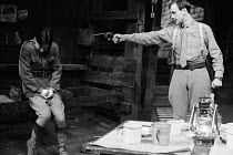 JOURNEY'S END by R. C. Sherriff design: Alan Pickford lighting: Michael O'Flaherty director: Eric Thompson <br> l-r: Bruce Robinson (2nd Lieutenant Hibbert), Peter Egan (Captain Stanhope) Mermaid Thea...