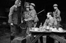JOURNEY'S END by R. C. Sherriff design: Alan Pickford lighting: Michael O'Flaherty director: Eric Thompson <br> l-r: Steven Barnes (German Soldier), John Green (Soldier), Barry Walker (Sergeant Major...
