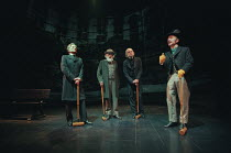 THE INVENTION OF LOVE by Tom Stoppard design: Anthony Ward lighting: Peter Mumford director: Richard Eyre <br>l-r: John Carlisle (Jowett), Benjamin Whitrow (Ruskin), William Chubb (Pattison), Robin So...