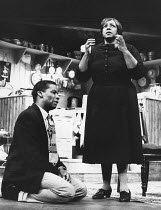 A RAISIN IN THE SUN by Lorraine Hansberry design: Martin Johns lighting: Leonard Tucker director: Lou Stein <br> Don Warrington (Walter Lee Younger), Isabelle Lucas (Lena Younger / Mama) Palace Theat...