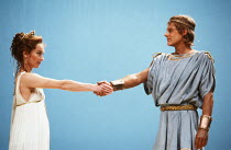 THE TROJAN WAR WILL NOT TAKE PLACE by Jean Giraudoux in an English version by Christopher Fry music: Harrison Birtwistle set design: Eileen Diss costumes: Robin Fraser Paye lighting: Mick Hughes direc...