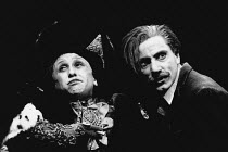 THE VISIT by Friedrich Durrenmatt adapted by Maurice Valency design: Rae Smith lighting: Luke Sapsed directors: Annabel Arden & Simon McBurney <br> Kathryn Hunter (Clara Zachanassian), Simon McBurney...