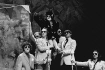 THE VISIT by Friedrich Durrenmatt adapted by Maurice Valency design: Rae Smith lighting: Luke Sapsed directors: Annabel Arden & Simon McBurney <br> held aloft: Kathryn Hunter (Clara Zachanassian) Thea...