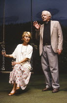 HIDDEN LAUGHTER written & directed by Simon Gray design: Robin Don lighting: Rick Fisher <br> Felicity Kendal (Louise), Peter Barkworth (Ronnie) Vaudeville Theatre, London WC2 12/06/1990 (c) Donald Co...