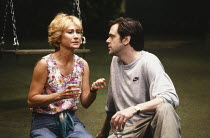 HIDDEN LAUGHTER written & directed by Simon Gray design: Robin Don lighting: Rick Fisher <br> Felicity Kendal (Louise), Kevin McNally (Harry) Vaudeville Theatre, London WC2 12/06/1990 (c) Donald Coope...