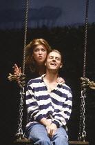 HIDDEN LAUGHTER written & directed by Simon Gray design: Robin Don lighting: Rick Fisher <br> Caroline Harker (Natalie), Samuel West (Nigel) Vaudeville Theatre, London WC2 12/06/1990 (c) Donald Coop...