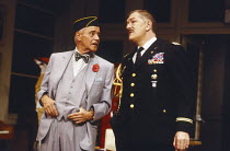 VETERANS DAY by Donald Freed set design: Eileen Diss costumes: Jane Robinson lighting: Mick Hughes director: Kevin Billington <br> l-r: Jack Lemmon (John MacCormick Butts), Michael Gambon (Walter Kerc...