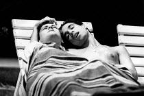 A MADHOUSE IN GOA by Martin Sherman design: Ultz lighting: Gerry Jenkinson director: Robert Allan Ackerman <br> l-r: Rupert Graves, Ian Sears Lyric Theatre Hammersmith, London W6 28/04/1989 (c) Donald...