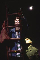 HAMMETT'S APPRENTICE by Kevin Hood design: Bunny Christie director: James Macdonald <br> Gina McKee, Ewan Hooper Theatre Upstairs, Royal Court Theatre, London SW1 25/11/1993 (c) Donald Cooper/Photosta...