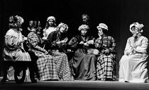 CRANFORD by Mrs Gaskell adapted by Joan Littlewood & John Wells music: Carl Davis lyrics: John Wells design: Dee Greenwood lighting: Ray Duffill director: Joan Kemp-Welch <br> centre trio, l-r: Stepha...