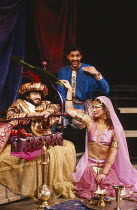IRANIAN NIGHTS by Tariq Ali & Howard Brenton set design: Colin Piggot & Debra Overton costumes: Chrissy Robinson lighting: Christopher Toulmin director: Penny Cherns <br> l-r: Nabil Shaban (The Caliph...