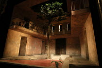 A DOLL'S HOUSE by Henrik Ibsen adapted by Tanika Gupta design: Lily Arnold lighting: Kevin Treacy director: Rachel O'Riordan <br> full set showing house courtyard in Calcutta, India, 1879 Lyric Hammer...