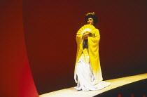 M. BUTTERFLY by David Henry Hwang music: Giacomo Puccini & Lucia Hwong design: Eiko Ishioka lighting: Andy Phillips director: John Dexter <br> G. G. Goei (Song Liling) Shaftesbury Theatre, London WC1...