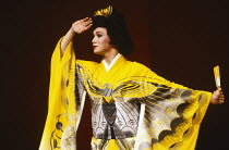 M. BUTTERFLY by David Henry Hwang music: Giacomo Puccini & Lucia Hwong design: Eiko Ishioka lighting: Andy Phillips director: John Dexter <br> G. G. Goei (Song Liling) Shaftesbury Theatre, London WC1...