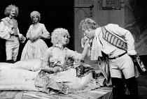 A JOURNEY TO LONDON by John Vanbrugh & James Saunders design: Mary Moore lighting: Nick Chelton director: Sam Walters <br> l-r: Peter Wyatt (Captain Toupee), Petra Markham (Miss Betty), Linda Marlowe...