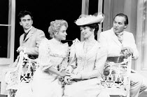 THE IMPORTANCE OF BEING EARNEST by Oscar Wilde design: Carl Toms director: Donald Sinden <br> l-r: Denis Lawson (Algernon Moncrieff), Natalie Ogle (Cecily Cardew), Gabrielle Drake (Hon. Gwendolen Fair...