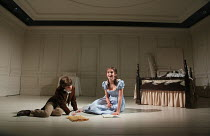 THE WATSONS by Laura Wade adapted from the unfinished novel by Jane Austen design: Ben Stones lighting: Richard Howell director: Samuel West <br> l-r: Grace Moloney (Emma Watson), Sonny Fowler (Charle...