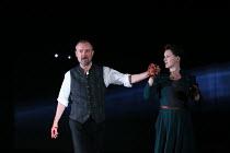 MACBETH by Shakespeare design: Simon Daw lighting: Mark Doubleday fights: Rachel Bown-Williams & Ruth Cooper-Brown movement: Angela Gasparetto director: Paul Miller <br> John Simm (Macbeth), Dervla Ki...
