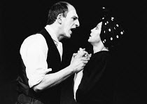 GREEK written & directed by Steven Berkoff <br> l-r: Matthew Scurfield (Dad / Man), Linda Marlowe (Wife / Isis) Half Moon Theatre, London E1 13/02/1980 (c) Donald Cooper/Photostage photos@photostage.c...