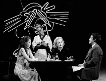 THE TREATMENT by Martin Crimp design: Julian McGowan lighting: Thomas Webster director: Lindsay Posner <br> l-r: Jacqueline Defferary (Anne), Geraldine Somerville (Waitress), Sheila Gish (Jennifer), L...