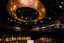 auditorium of the Boulevard Theatre, Walker's Court, Soho, London W1 showing the setting for the opening production of GHOST QUARTET by Dave Malloy in October 2019 <br> (c) Donald Cooper/Photostage p...