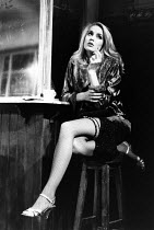 BUS STOP by William Inge design: Tim Goodchild lighting: Jenny Cane director: Phil Oesterman <br> Jerry Hall (Cherie) Palace Theatre, Watford, England 02/1990 Lyric Theatre, London W1 27/02/1990 (c) D...
