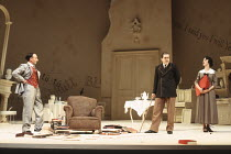 TRAVESTIES by Tom Stoppard design: Richard Hudson lighting: Jennifer Tipton movement: Sue Lefton director: Adrian Noble <br> l-r: Antony Sher (Henry Carr), Lloyd Hutchinson (James Joyce), Rebecca Sair...