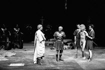 THE ROMANS IN BRITAIN by Howard Brenton set design: Martin Johns costumes: Stephanie Howard lighting: Chris Ellis director: Michael Bogdanov <br> centre: William Sleigh (Legate), Michael Bryant (Juli...