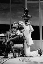 MISALLIANCE by Bernard Shaw design: Roger Butlin lighting: David Hersey director: John Caird <br> Jane Lapotaire (Lina Szczepanowska), Brian Cox (John Tarleton) Royal Shakespeare Company (RSC), Barbic...