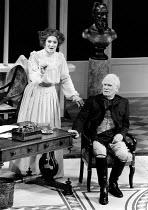 MISALLIANCE by Bernard Shaw design: Roger Butlin lighting: David Hersey director: John Caird <br>Caroline Goodall (Hypatia Tarleton), Joseph O'Conor (Lord Summerhays) Royal Shakespeare Company (RSC),...