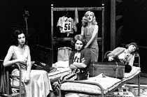 THEY SHOOT HORSES, DON'T THEY? by Ray Herman adapted from the novel by Horace McCoy design: Ralph Koltai lighting: Chris Ellis director: Ron Daniels <br> l-r: Geraldine Fitzgerald (Jackie Miller), Ime...