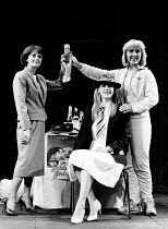 GOLDEN GIRLS by Louise Page set design: Kit Surrey costumes: Allan Watkins lighting: Wayne Dowdeswell director: Barry Kyle <br> l-r: Polly James (Hilary, Kate Buffery (Sue), Jan Revere (The Golden Gir...