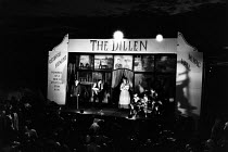 THE DILLEN by Ron Hutchinson after the book by Angela Hewins music: Guy Woolfenden design: Chris Dyer costumes: Jackie Gunn lighting: Leo Leibovici director: Barry Kyle <br> on stage, from left: Dick...