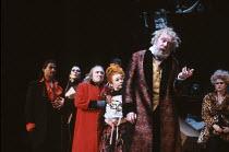 THE VIRTUOSO by Thomas Shadwell music: Gary Yershon design: Anthony Ward lighting: Wayne Dowdeswell movement: Sue Lefton director: Phyllida Lloyd <br> from left: Terence Hillyer (Hazard), Linda Marlow...